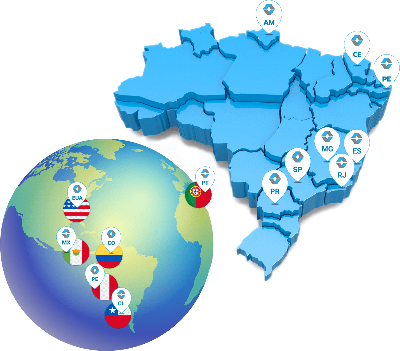 Mapa de onde a Ketra - Empresa de Soluções em Sistema de Gestão atua